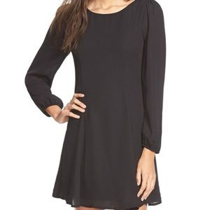 Long Sleeve A-Line Shift Dress